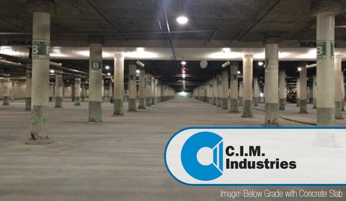 Below grade garage with concrete slab-1