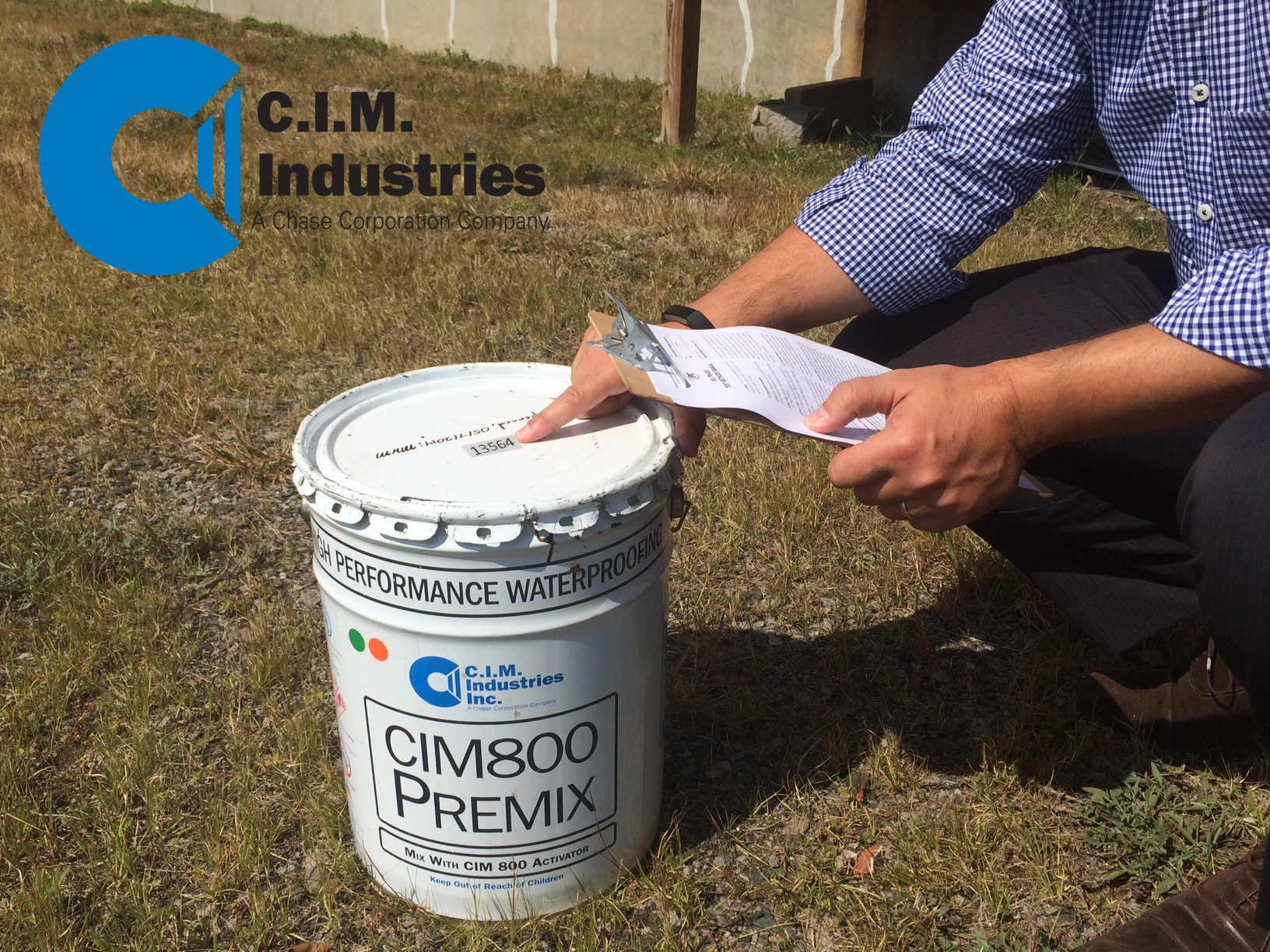 Contractor Verifying CIM Industries documentation
