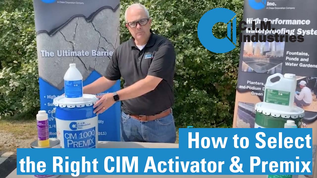 How to select the right CIM activator and premix