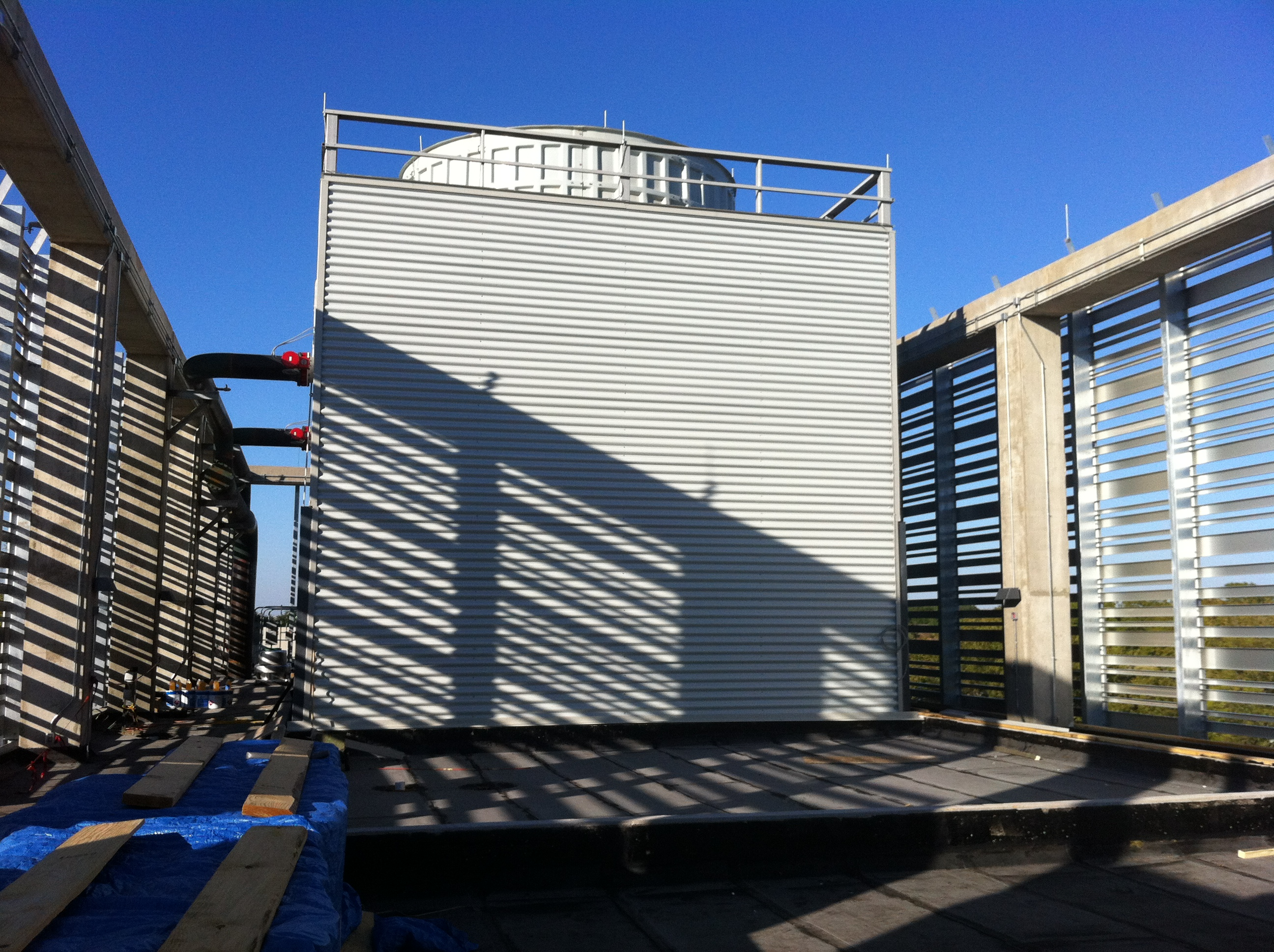 Exterior of a cooling tower