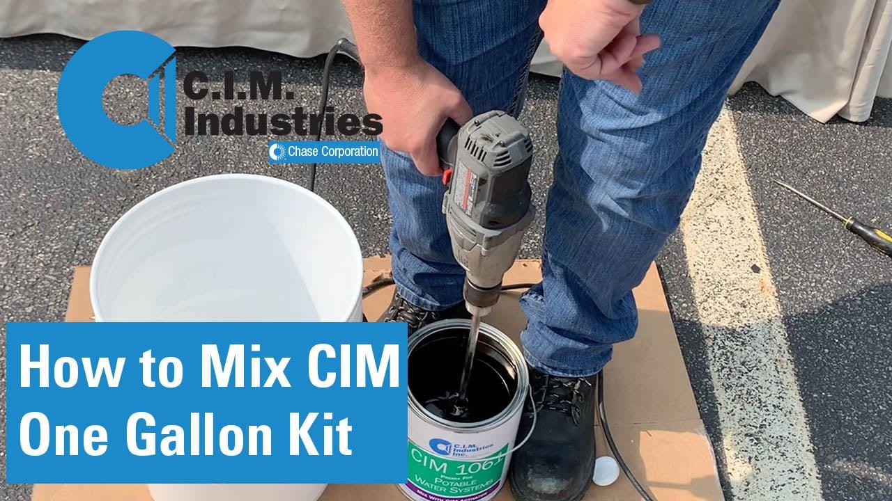 Mixing a CIM Premix and activator