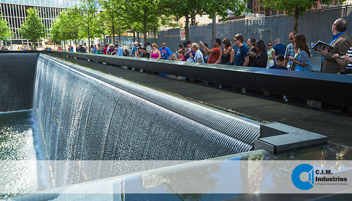 WTC fountain troughs and weirs